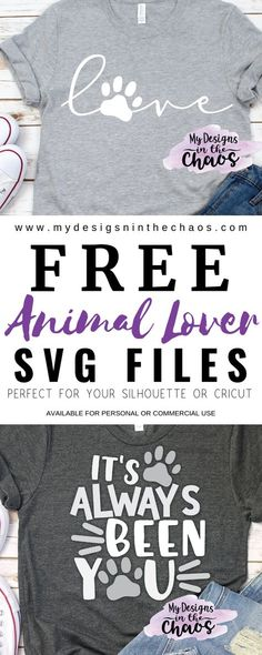These SVG cutting files for dog moms and cat moms are adorable. They are great to use with your Silhouette and Cricut cutting machines. #Silhouette #cricut #freesvg