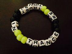 In Trance We Trust Kandi Bracelet by KandilandUSA on Etsy
