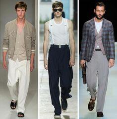 moderne Hosen Männer Sommermode Herrenhosen