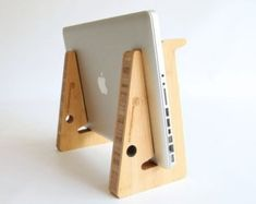 Items similar to Wood laptop stand, macbook pc portable computer riser, ergonomic working for your desk and on-the-go. Made from thick bamboo wood. on Etsy Laptop Cooling Stand, Laptop Cooler, Folding Desk, Support Telephone, Office Gadgets, Kitchen Gadgets, Laptop Desk, Asus Laptop, Diy Laptop