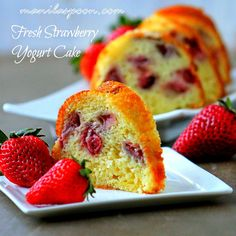 Fabulously delectable FRESH STRAWBERRY and YOGURT CAKE! It is as yummy as it looks! Please enjoy! :) #strawberryyogurtcake #luvfood #manilaspoon