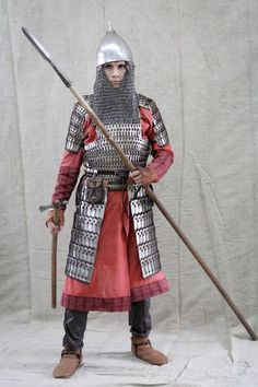 Medieval Slavic costume of Ancient Russia: