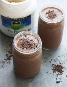 Chocolate Pea Protein Shake (Vegan) | Detoxinista