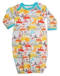 Amazon.com: Zutano Baby-boys Newborn Sunday Drive Gown: Clothing