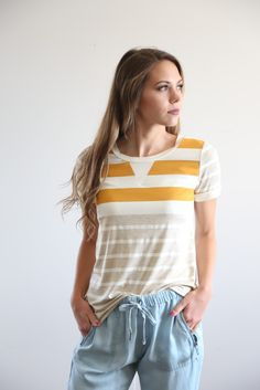 The Golden Striped Blouse