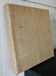A 12″x12″ Chunky Stretched Burlap from Canvas Corp. - would be fun to create something on this.