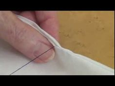 Learn to sew a seam opening closed so that your stitches are invisible!