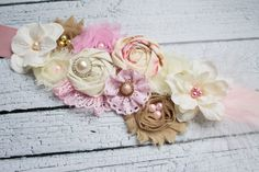 A Sweet Touch maternity sash, maternity photo prop, girl maternity prop. $30.00, via Etsy.