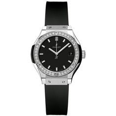 Hublot Classic Fusion Quartz 33mm 581.nx.1171.rx.1104 Watch (23,905 SAR) ❤ liked on Polyvore featuring jewelry, watches, titanium, polish jewelry, hublot, quartz jewelry, hublot watches and quartz watches