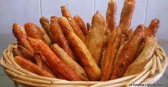 Palitos Salados Rellenos de Sobrasada y de Anchoa.- Sugerencia de presentación  Esta receta es una de mis especialidades y lo...