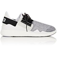 Y-3 Women's Chimu Boost Sneakers (€320) ❤ liked on Polyvore featuring shoes, sneakers, white, mesh sneakers, vintage sneakers, low profile sneakers, lace up sneakers and slingback shoes