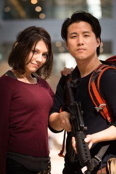 Maggie and Glenn (The Walking Dead) #comikaze2014
