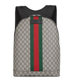 GUCCI Canvas Backpack. #gucci #bags #canvas #backpacks #