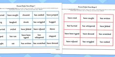 Use this bingo game to help your class practice identifying the present perfect tense. Includes instructions and sentence examples. Sentence Examples, Bingo Games, Sentences, Presents, Writing, Learning, Printables, Games, Frases