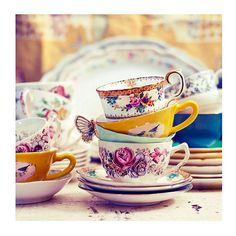 Still Life Photograph Tea Party 5x5 Print Shabby Chic di ellemoss, $15.00