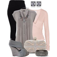 Grey & Pastel Pink by jacci0528 on Polyvore featuring moda, Mint Velvet, Banjo & Matilda, Helmut Lang, Givenchy, Alexander McQueen, White House Black Market and Steve Madden