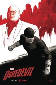 Ahead of New York Comic-Con next weekend, artist Paolo Rivera has shared his con-exclusive poster for the highly-anticipated third season of Marvel/Netflix's Daredevil, spotlighting our hero and villain. Daredevil Punisher, Daredevil Artwork, Hq Marvel, Marvel Heroes, Netflix Marvel, Netflix Daredevil, Daredevil 2015, Luke Cage, Charlie Cox