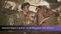 Alejandro Magno, Rey de Macedonia. Detalle del mosaico de la Casa del Fauno de Pompeya (Museo de Nápoles).