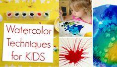 Watercolor Techniques for Kids