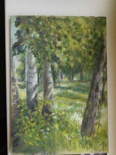 Forest Softpastel, Derwent paper A4