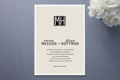 minted wedding invitations, simple affair by @Yolanda Mariak Chendak