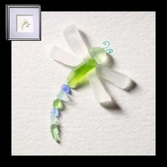 Sea glass dragonfly