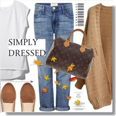 Simply dressed by myfashionwardrobestyle on Polyvore featuring Current/Elliott, H&M, Nancy Gonzalez and Z Supply