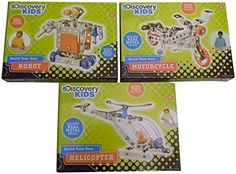 Discovery Kids Build Your Own Robot, Motorcycle and Helicopter Kits Discovery Kids