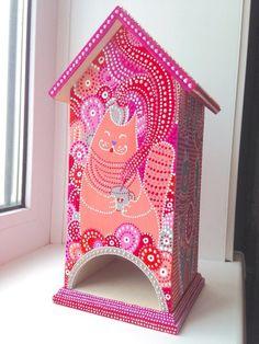 """Кухня ручной работы. Ярмарка Мастеров - ручная работа. Купить Чайный домик """"Уютный"""". Handmade. Чайный домик, кот, чашка"""