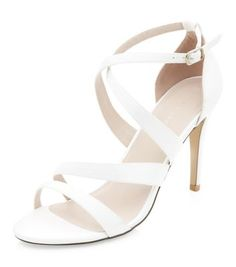 Cream Bridal Strappy Heels | New Look These are my faves for the older Bridesmaids