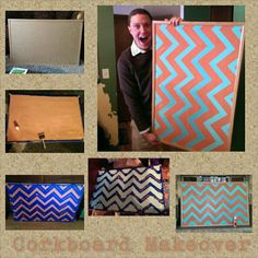 DIY cork board makeover