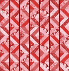 Prints :: Products :: Fabri-Quilt, Inc. Roses are Red free quilt pattern by Sue Harvey and Sandy Boobar