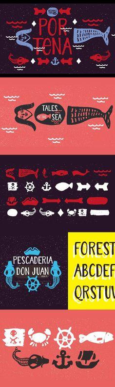 Portena. Display Fonts