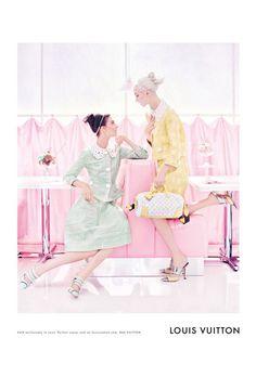 Pastel tones in Luis Vuitton print ad