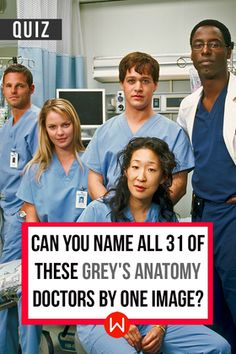 Take this quiz to see if you can correctly identify all of these Grey's Anatomy doctors (Patrick Dempsey, Ellen Pompeo, Shonda Rhimes) etc. Seattle Grace, Grey's Cast, Grey's doctors.