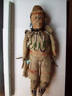 Modoc indian hide doll