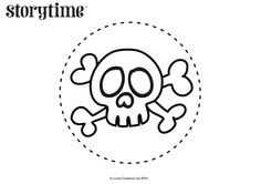 Avast! Decorate books, party bags or pirate eye patches with our Treasure Island-inspired skull and crossbones. Get it here: STORYTIMEMAGAZINE.COM