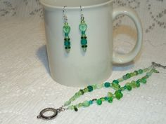 Colorful Light Green Czech Glass Bracelet and by SandiesGiftCorner, $11.95