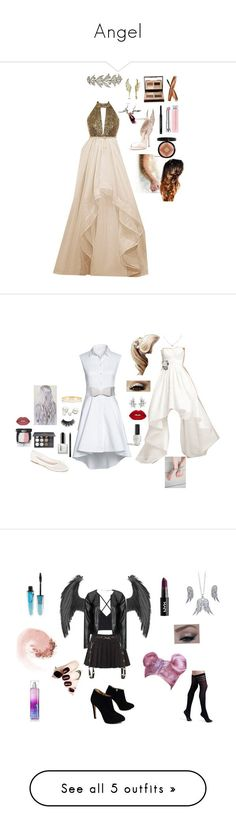 """""""Angel"""" by goddessofbacon ❤ liked on Polyvore featuring Valentino, BERRICLE, Charlotte Tilbury, Christian Dior, Sophia Webster, Mommy Makeup, Lands' End, White Mountain, Shany and Chanel #diormakeup"""