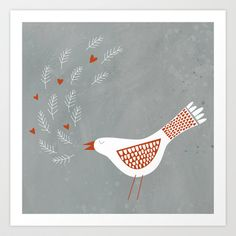 La la la Art Print by Squirrell - $19.00