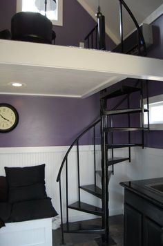 Spiral stairs to small loft