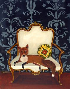 French FoxOpen Edition Print by CatherineNolinArt on Etsy, $12.00