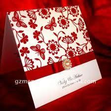 invitaciones de boda elegantes color rojo buscar con google