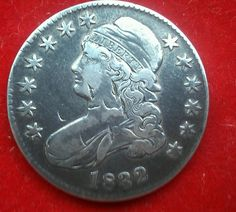 $.01 auction US COIN 1832 SILVER HALF DOLLAR COIN 50C MINT1