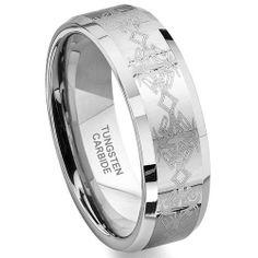 Tungsten Carbide Laser Engraved Celtic Wedding Band Ring 7-12.5 Titanium Kay. $69.99