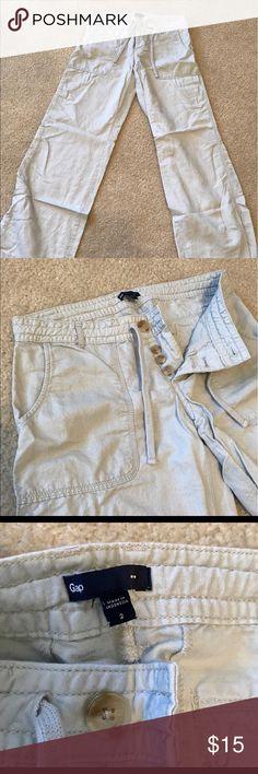 Light grey linen pants. Perfect for summer! Lightweight and super soft. GAP Pants Boot Cut & Flare