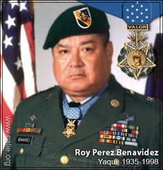 US Army Special Forces soldier Roy Benavidez, Yaqui Indian (1935-1998). Medal of Honor recipient . This man was a beast! Rip sir, rest easy now.