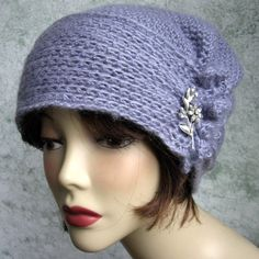 Crochet Pattern Womens Hat With Side Button Trim by kalliedesigns