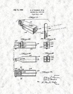 This is a Patent Print for a Squirrel-call Sound Box. Hendrix Cecil A and it was issued on July 1950 by the United States Patent and Trademark Office. Squirrel Calls, Patent Prints, Hunting, Poster Prints, Design Ideas