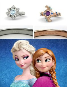 Gorgeous Rings Inspired By Frozen....one time I favorite something other than white gold....Love Anna inspired ring